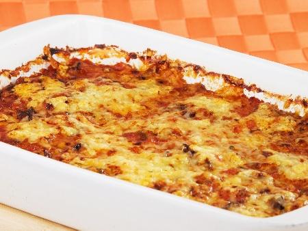 Лесна запеканка с патладжани, домати, готов сос бешамел и кашкавал - снимка на рецептата